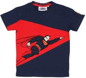 Fabric Flavours SUPERMAN PRINTED COTTON JERSEY T-SHIRT