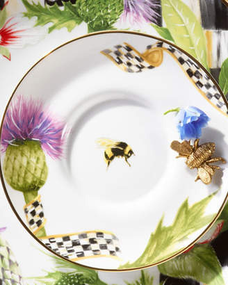 Mackenzie Childs MacKenzie-Childs Thistle & Bee Saucer