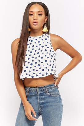 Forever 21 Polka Dot Cropped Tank Top