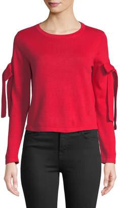 Avantlook Bow-Shoulder Crewneck Sweater