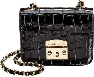 Mario Valentino Valentino By Bijou Croc-Embossed Leather Crossbody
