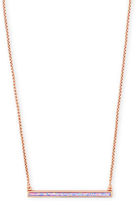 Kendra Scott Kelsey Bar Pendant Necklace w/ Opal