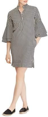 Ralph Lauren Striped Bell-Sleeve Shirt Dress