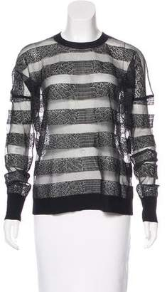 Alexander Wang Mesh Striped Sweatshirt