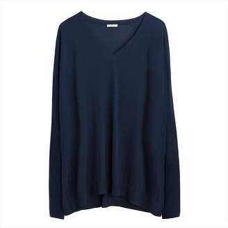 Cuyana Cotton Cashmere V-Neck Sweater