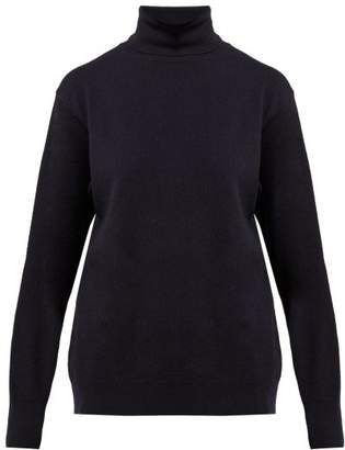 The Row Janilleen Roll Neck Cashmere Sweater - Womens - Navy