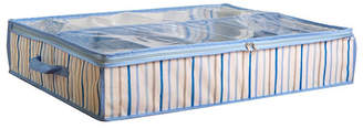Laura Ashley Under the Bed Storage Bag in Painterly Blue Stripe