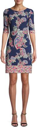 Eliza J Paisley Print Dress