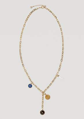 Emporio Armani Stainless Steel Evil Eye Necklace With Lucky Charms