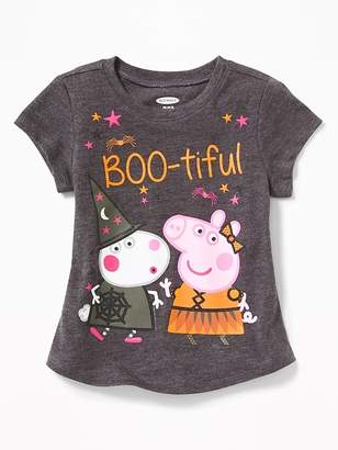 """Old Navy Peppa Pig """"Boo-tiful"""" Halloween Tee for Toddler Girls"""