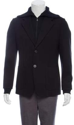 Emporio Armani Wool-Blend Layered Coat