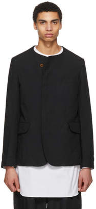 Comme des Garcons Navy Double Cloth Twill Blazer
