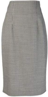 Gianluca Capannolo vichy pencil skirt