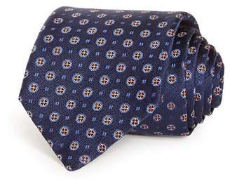 HUGO Circle Medallion Silk Skinny Tie