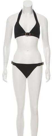Michael Kors Buckle-Accented Two-Piece Swimsuit w/ Tags