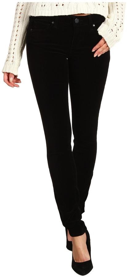 Paige Verdugo Ultra Skinny Velveteen in Black (Black) - Apparel