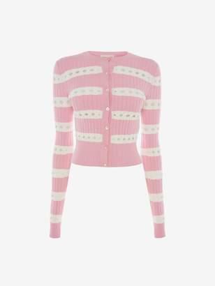 Alexander McQueen Ribbed Stripe Cardigan