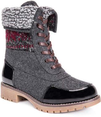 Muk Luks Womens Jandon Winter Boots Water Resistant Block Heel Lace-up