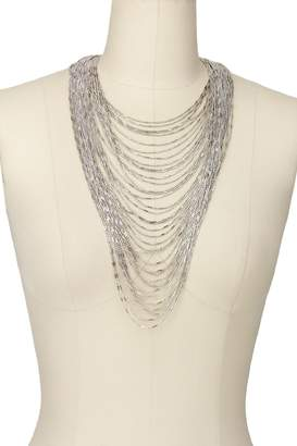 Saachi Pewter Waterfall Layer Necklace
