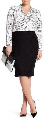 Bobeau Lace Pencil Skirt (Plus Size) $52 thestylecure.com