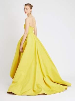 Oscar de la Renta Wave moire Faille Gown