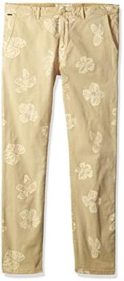 Scotch & Soda Men's Garment Dyed Chino with All-Over Print