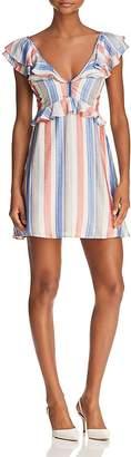 Red Carter Poppy Striped Mini Dress