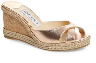 Jimmy Choo Almer Wedge Slide Sandal