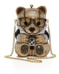 Judith Leiber Spencer Crystal Teddy Bear Minaudiere $4,995 thestylecure.com