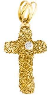 Orlando Orlandini 18K Diamond Cross Pendant