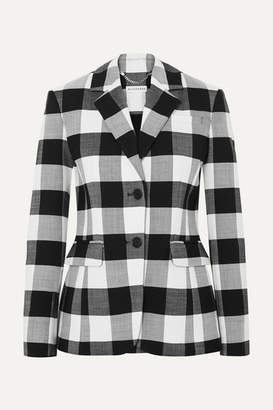 Altuzarra Fenice Gingham Wool-blend Twill Blazer - Black