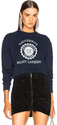 Saint Laurent Crewneck University Sweatshirt