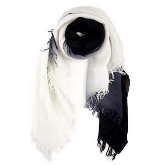 Chan Luu Solid Color Cashmere Silk Scarf in Black