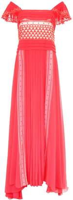 Philosophy di Lorenzo Serafini Long Dress With Lace Inserts