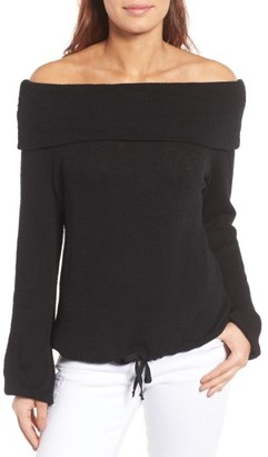 Women's Caslon Convertible Off The Shoulder Pullover $59 thestylecure.com