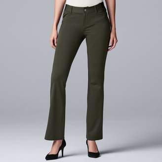 Vera Wang Women's Simply Vera Everyday Luxury Ponte Bootcut Pants