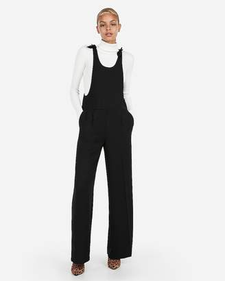 d30289093712 Express Petite Tie Strap Wide Leg Overalls