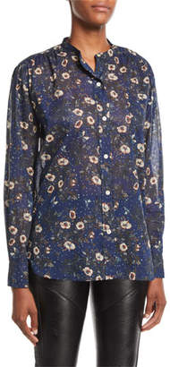 Etoile Isabel Marant Mexika Printed Button-Front Blouse
