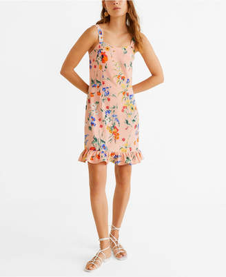 MANGO Short Ruffled Dress