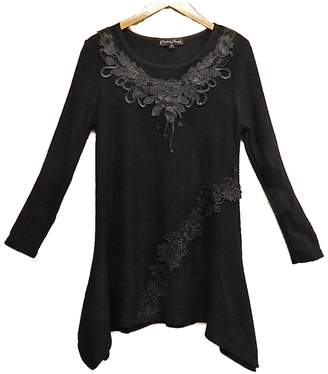 Pretty Angel Black Flower Tunic