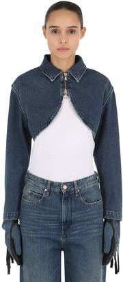 Shayne Oliver Bolero Cotton Denim Jacket