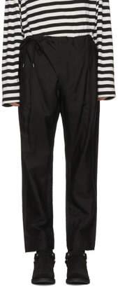 TAKAHIROMIYASHITA TheSoloist. Black Crossover Pyjama Trousers