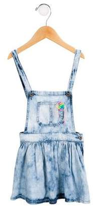 Billieblush Girls' Denim Overalls Dress w/ Tags