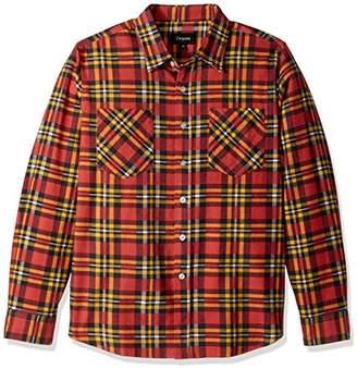 Brixton Men's Bennett Standard Fit Long Sleeve Flannel Shirt