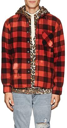 NSF Men's Distressed Checked Flannel Shirt