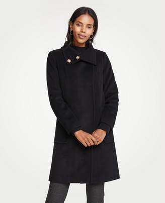 Ann Taylor Petite Snappy Funnel Neck Coat
