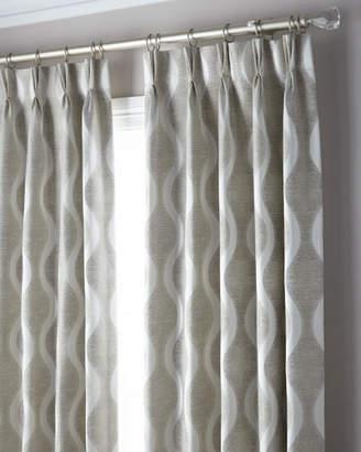 "Thomas Laboratories Misti Modern Luxuries 3-Fold Pinch Pleat Wave Curtain, 96"""