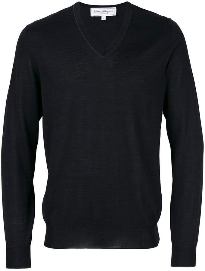 Salvatore Ferragamo v-neck sweater