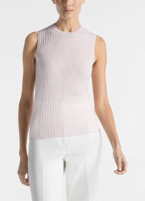 St. John Luxe Variegated Rib Knit Shell