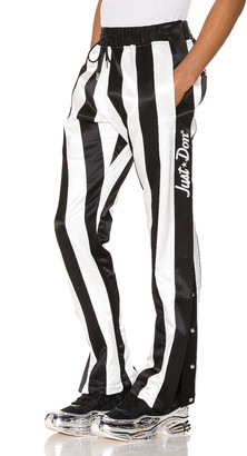 Just Don Panelled Tearaway Pant in Black & White   FWRD